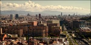 La vista de la ciudad