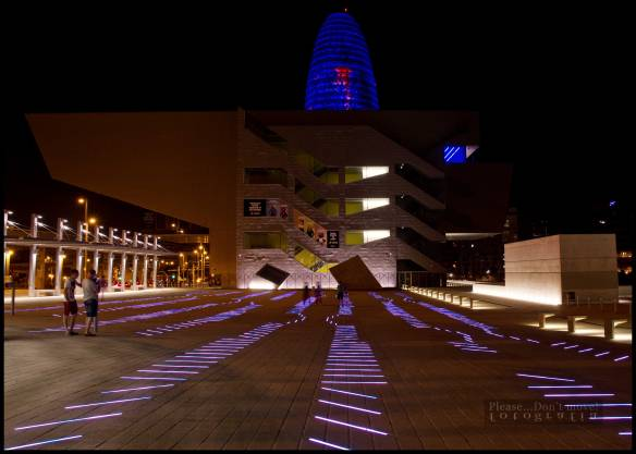 La plaza luminosa del Design HUB Barcelona