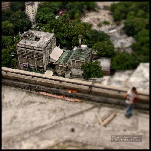El Ateneo de Caracas visto desde lo más alto de la Torre Este del Parque Central en Caracas. La tomé en Agosto 2012.