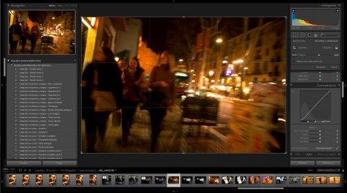 La imagen original en el visor de Adobe Lightroom
