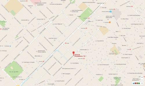Floridablanca 122 en Google maps