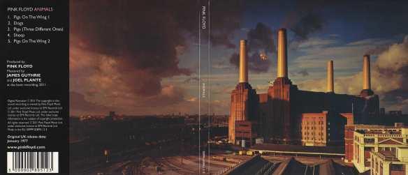 Diseño de Roger Waters con el edificio de Battersea Power Station y el cerdo Angie entre las chimeneas
