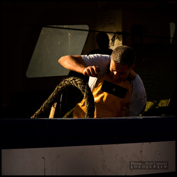 Las primeras actividades al atracar en puerto: las amarras.