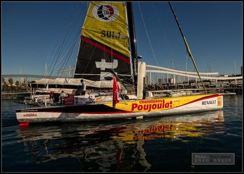 El Imoca 60 de Cheminées Poujoulat inicia la vuelta al mundo el 31 de diciembre de 2014.