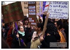 Manifestación de las estudiantes en Barcelona el 8 de Marzo 2018